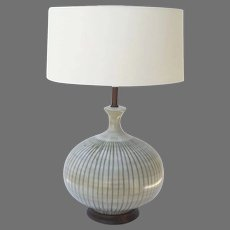 Vintage Ceramic Large Mid Century Lamp Onion Shaped