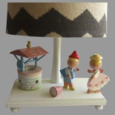 Vintage Child's Bedroom Lamp with Nightlight  Jack and Jill