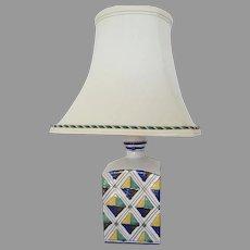 Vintage ND Dolfi Majolica Lamp Custom Shade