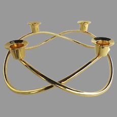 Georg Jensen Season 18K Gold Plated Candle Holder