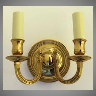 Two-Arm Wall Sconce with Gilt Finish Made in France