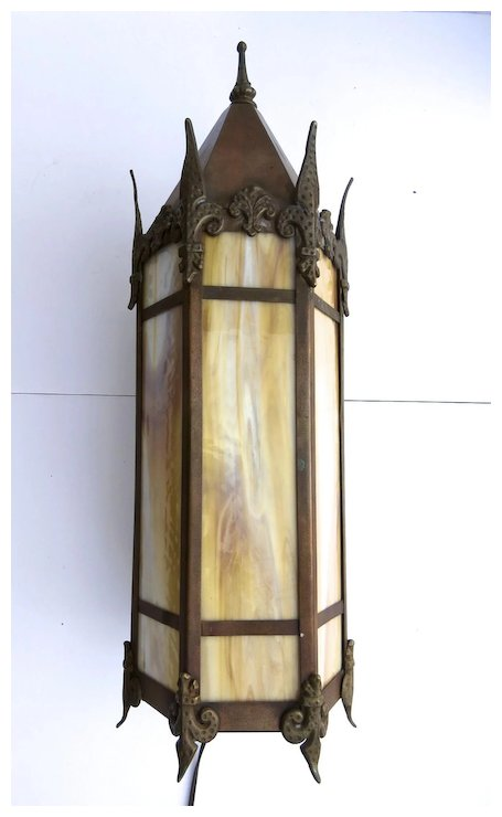 gothic wall sconce medieval copper gothic wall sconce peaked top sold ruby lane