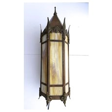 Copper Gothic Wall Sconce Peaked Top