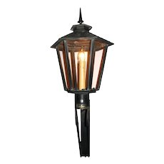 Pair of Gas Exterior Lantern from the Chandelier Building Central City Colorado