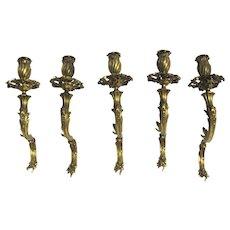 Rococo Ormolu Arms from Torchere Ex Broardmoor Hotel Colorado Springs