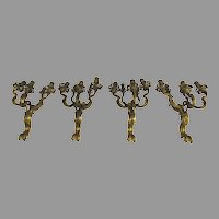 Monumental Ormolu Arm Sconces Bronze Rococo EX Broadmoor