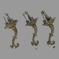 Rococo Ormolu Torchiere  Torchere Arms Sconces from Broadmoor Hotel
