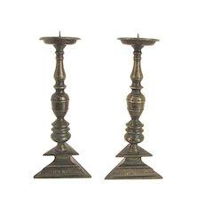 Spanish 17th Century Candle Sticks