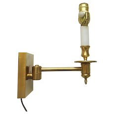 French Bronze Articulated Single Arm Articulated Wall Sconce by Art & Style, France