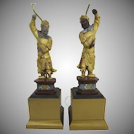 Pair of Chinese Figures Now Mounted as Lamps