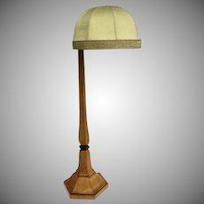 Large Biedermeier Birch Floor Lamp Articulated