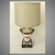 Candelabra Base Gesso Ormolu Mounts Lamp