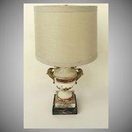 Candelabra Base Gesso Ormolu Mounts Lamp