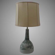 Large Ceramic Bjorn Wiinblad Lamp c 1960 Denmark