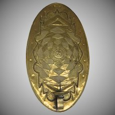 Vintage Edigio Casagrande (1911-1962) Handcrafted Brass One Arm Oval Wall Sconce
