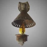 Vintage Copper Lantern 1950's Ceiling Mount Ranch Country
