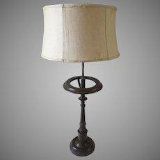 Vintage Bronze Finish Pillar Lamp