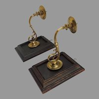 Pair of One Arm Brass 18th Century Candle Wall Sconces