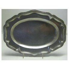 French Pewter Wavy Edge Platter 18th Century