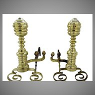 American Brass and Iron Andirons