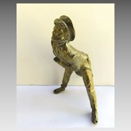Bronze Figure of English Man Clock Finial