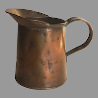Vintage Small Copper Pitcher Character