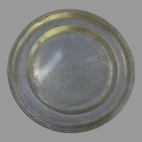 European 19th Century Large Plate Charger Touch Marks