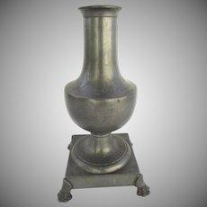 French 19th Century Footed Urn Vase Lamp Paw Feet Dumas Animes