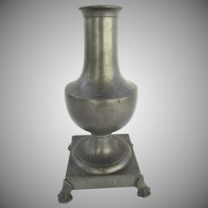 French 19th Century Footed Urn Vase Lamp Paw Feet Dumas Animes