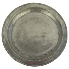 "18th Century Large English Pewter  Shallow Bowl Basin Charger 16"" Diameter"