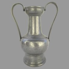 19th century Pewter Urn with Touch Marks