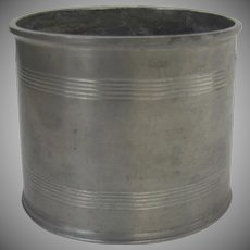 Vintage Oval English Pewter Container
