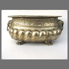 English Brass Oval Jardiniere