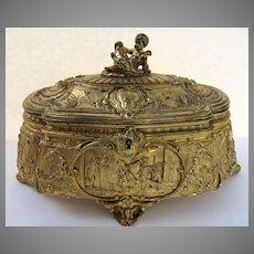 French Bronze Dore Casket Box