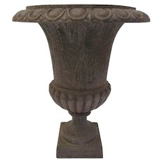 French Classic Iron Footed Garden Urn
