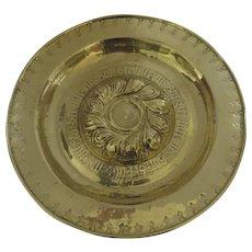 Nuremberg 16th 17th Century Brass Alms Dish