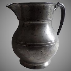 19th Century Large Pewter Pitcher