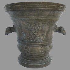 Monumental Bronze Mortar by Vincenzo Barborini Italy 18th Century