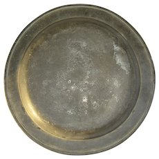 18th Century Large Pewter Charger