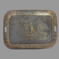 Well Loved 19th Century Tole Tray