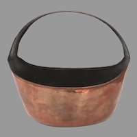 Vintage Copper Basket International Trading Copper Made in Turkey