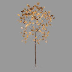 Curtis Jere Mid-Century Modern Large Copper Tree Wall Sculpture
