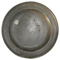 18th Century Large Pewter Charger by Henry Joseph