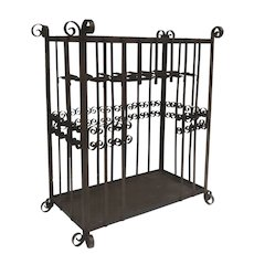 Large Wrought Iron Umbrella, Cane, Stick Stand