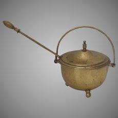Vintage Brass Smudge Pot Fire Starter Fireplace