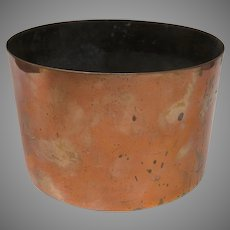 English Culinary Copper Bowl Measure
