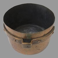 19th Century Copper Seamed Cooking Pot