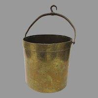 19th Century Scale Brass Bucket Measure