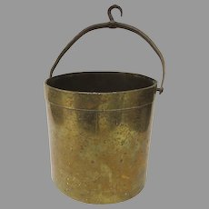19th Century Scale Brass Bucket Measure