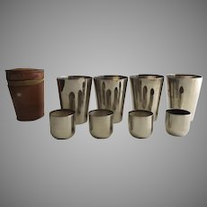 Traveling Stainless Shot Glasses Cups Set of 8 Made in Germany